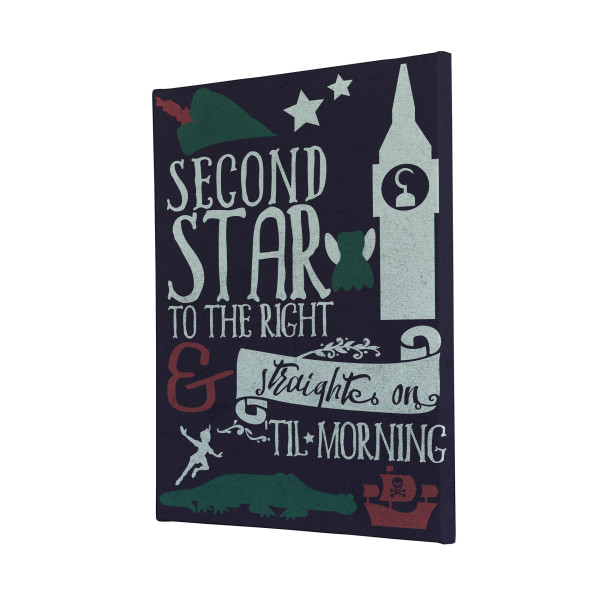 Second Star Peter Pan Canvas Print