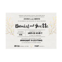 Ornamental Water Colour Wedding Invitation Template Melbourne Australia