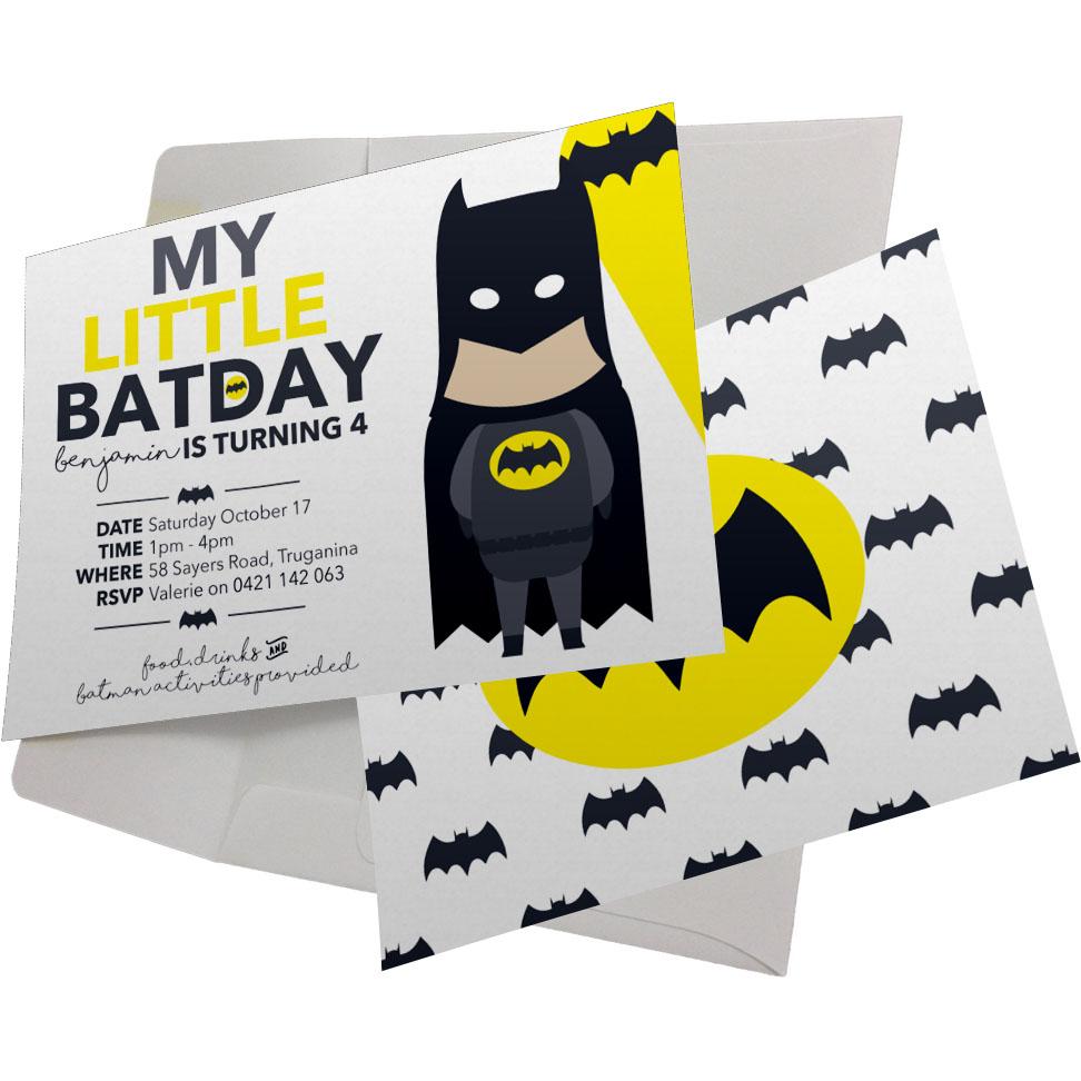 Batman Birthday Party Collection inc. Invitations & Labels Australia