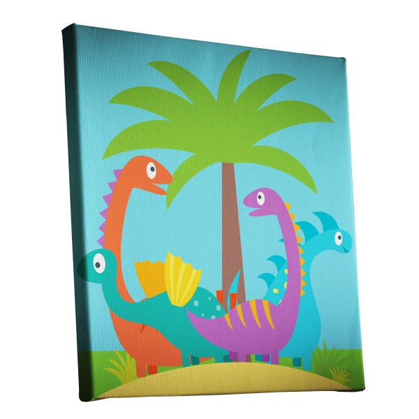 Dinosaur Island Canvas kids bedroom custom print australia melbourne