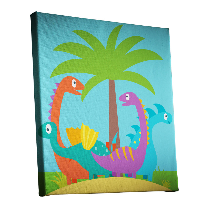 Dinosaur Island Canvas Print Design