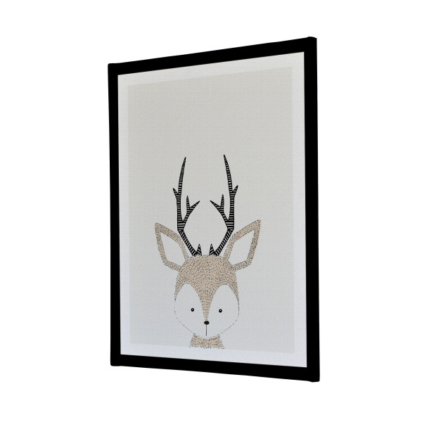 Hand Drawn Baby Deer Canvas Print bedroom custom design Melbourne Australia