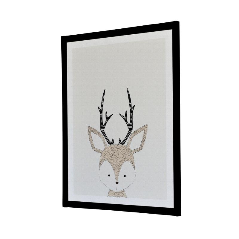 Hand Drawn Baby Deer Canvas Print Melbourne Australia