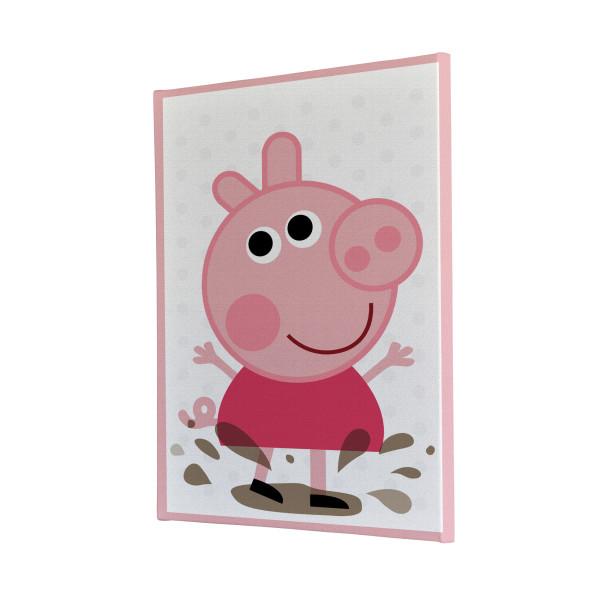 Peppa Pig Puddles Canvas Print Melbourne Australia bedroom design drawing kids fun