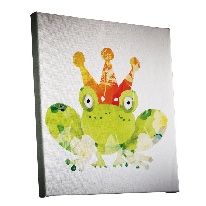 Frog Prince Watercolour Canvas Print Design
