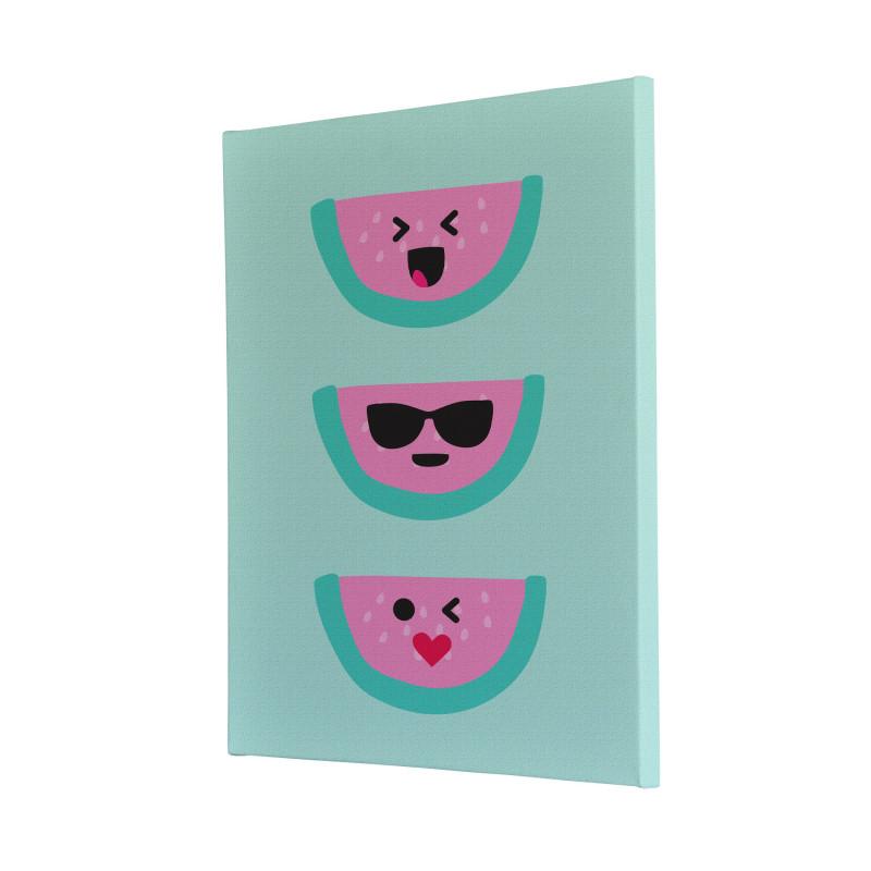 Watermelon Faces Canvas Print Design