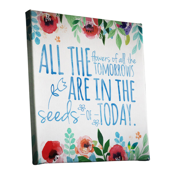 All The Flowers Of All The Tomorrows Watercolour Canvas Print Design Melbourne Australia buy canvas online